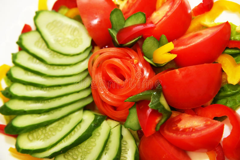Vegetables for salad stock images