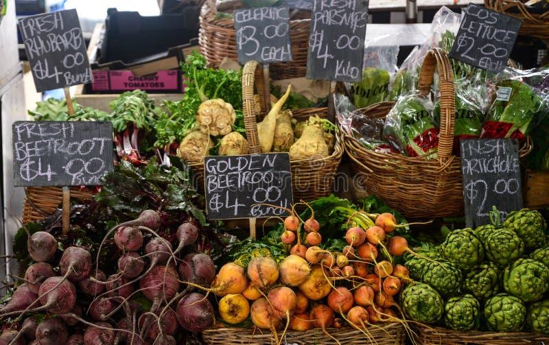 Vegetables for sale. Fresh vegetables for sale in market like artichokes,golden beetroot,celery,parsnipe,lettuce,beetroot.rhubarb stock photos