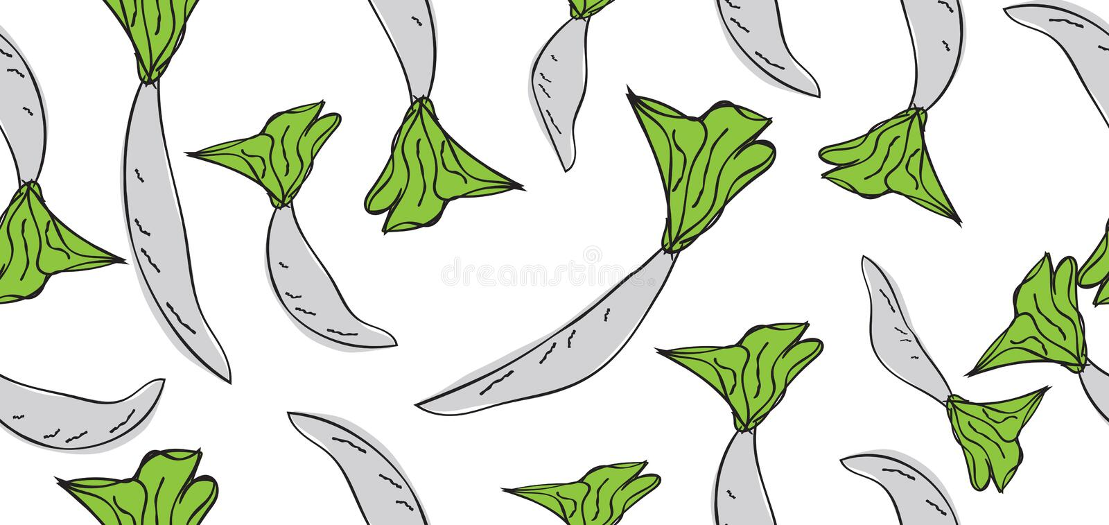 Vegetables seamless pattern, Vegetables banner template vector, web banner, web page, radish, cover, Healthy food wallpaper stock images