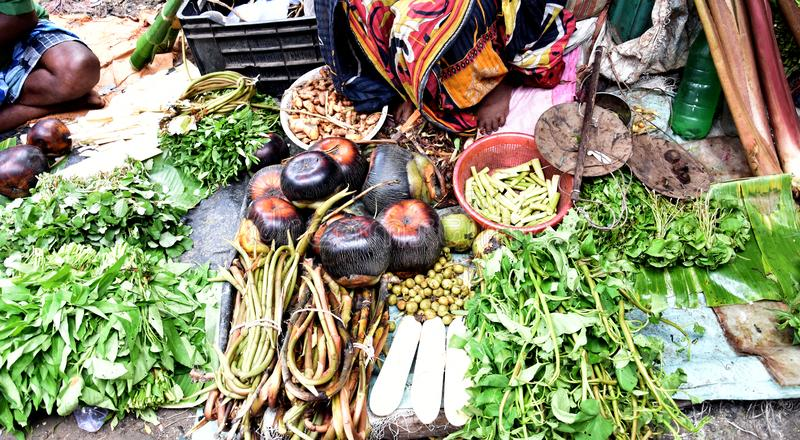 Vegetables are for Selling in the Local Market. Vegetables are selling in the local market for preparation of recipes for lunch and dinner stock photo