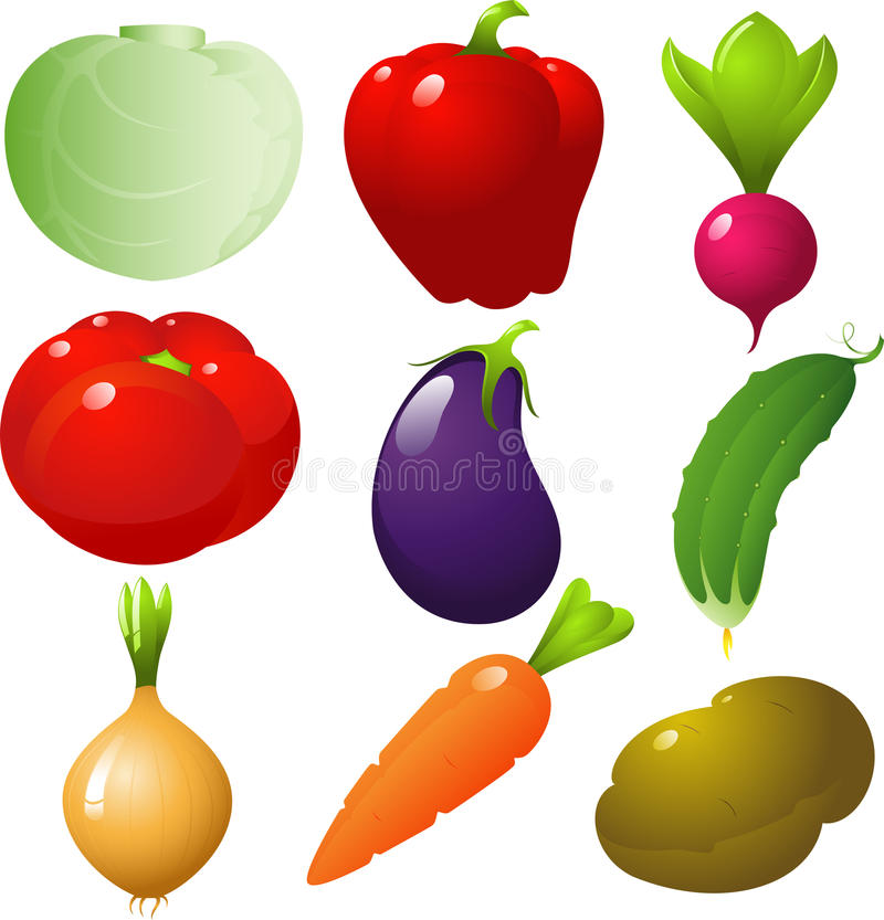 Vegetables set stock image