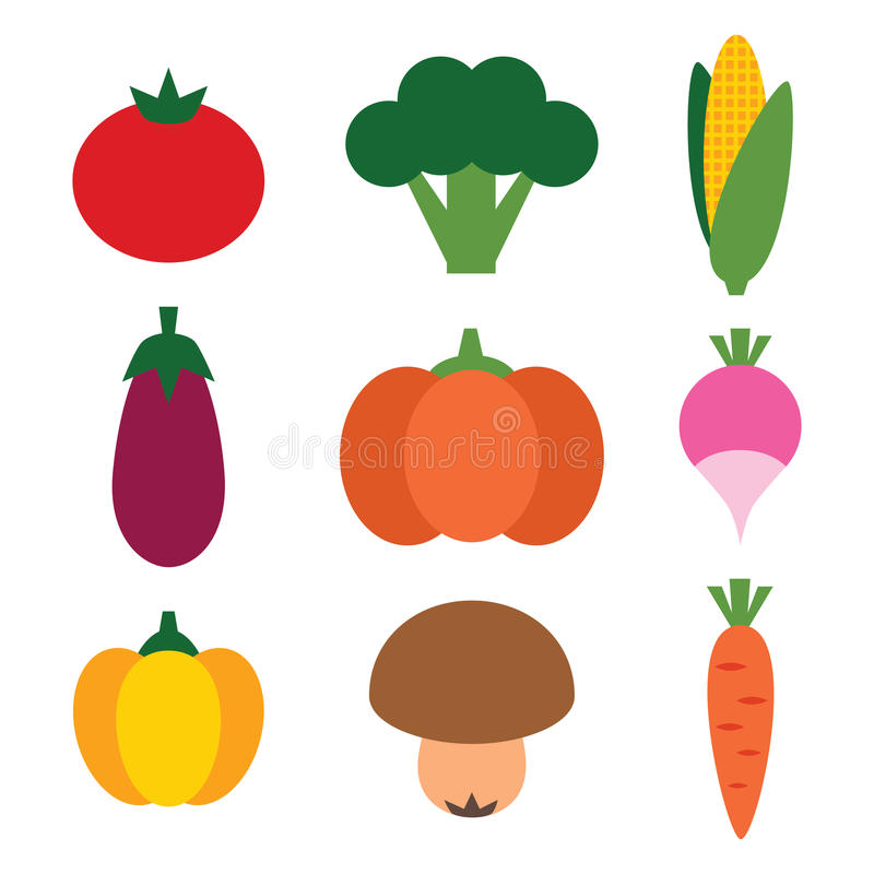 Download Vegetables set stock vector. Illustration of broccoli - 31292788