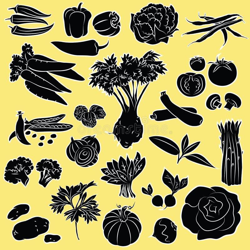 Vegetables set royalty free illustration