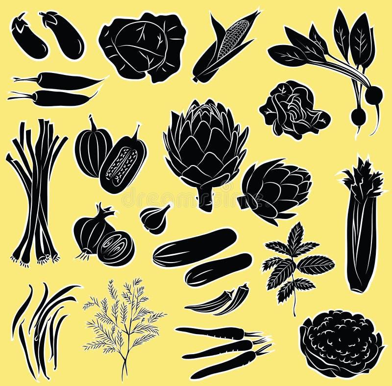 Vegetables set vector illustration