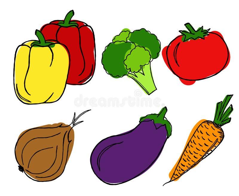 Vegetables set on white background. royalty free stock photo