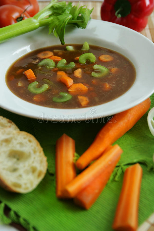 Download Vegetables soup stock photo. Image of dish, catering - 10308020