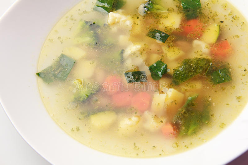 Vegetables soup royalty free stock photography