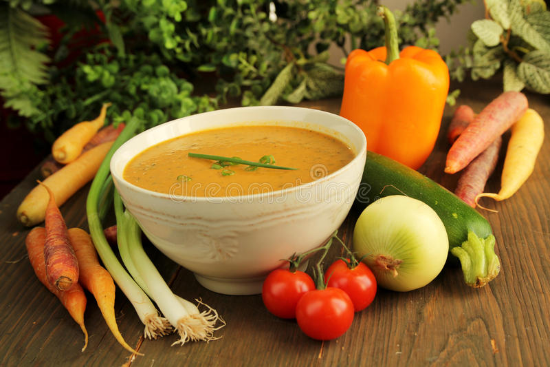 Download Vegetables soup stock image. Image of lunch, vegetarian - 27750215