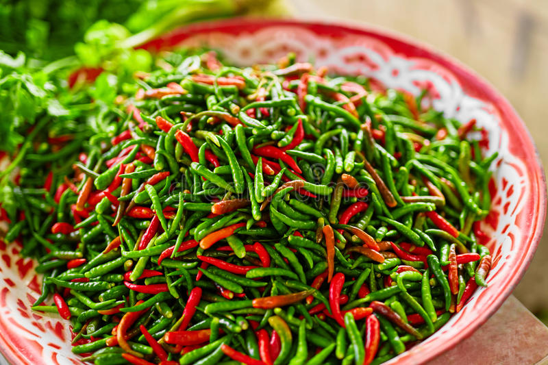 Vegetables. Spicy Chili Peppers In Market. Nutrition. Healthy Food. Spices. stock images