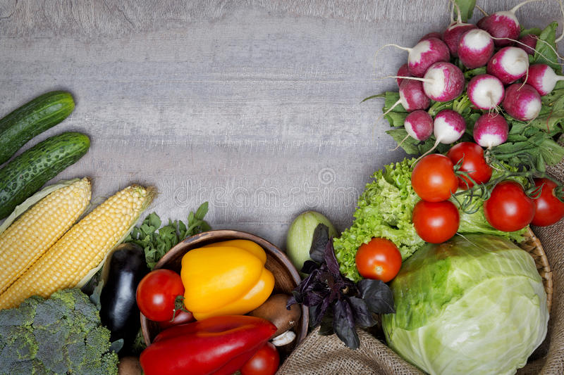 Vegetables on a table stock photo
