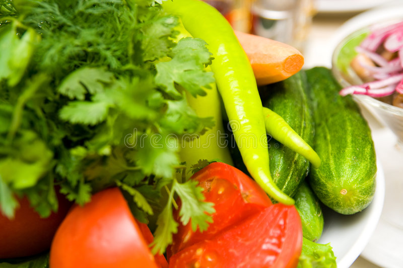 Download Vegetables on the tables stock image. Image of summer - 6351509