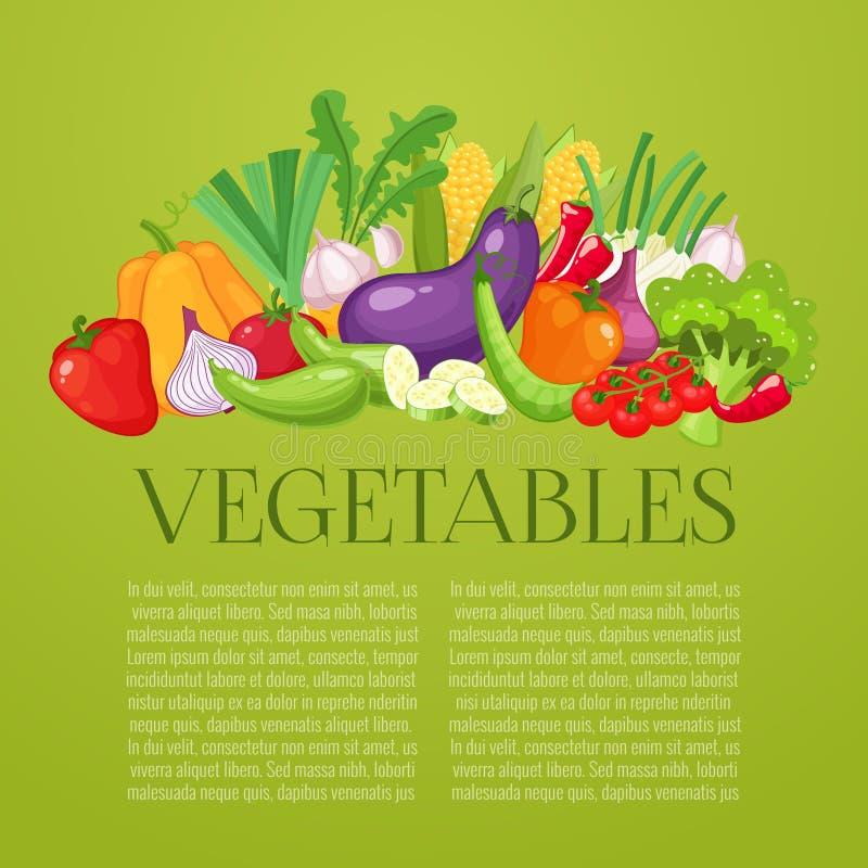 Vegetables top view frame. Farmers market menu design. Organic food poster. Vintage hand drawn sketch vector. Vegetables top view frame. Farmers market menu vector illustration