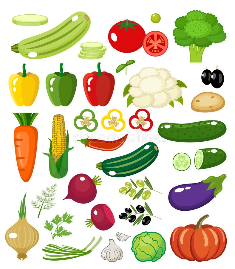 Vegetables on a white background isolated. royalty free stock photo