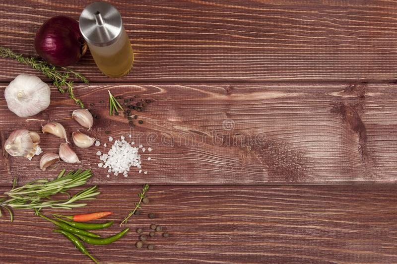 Vegetables on wooden table royalty free stock photo