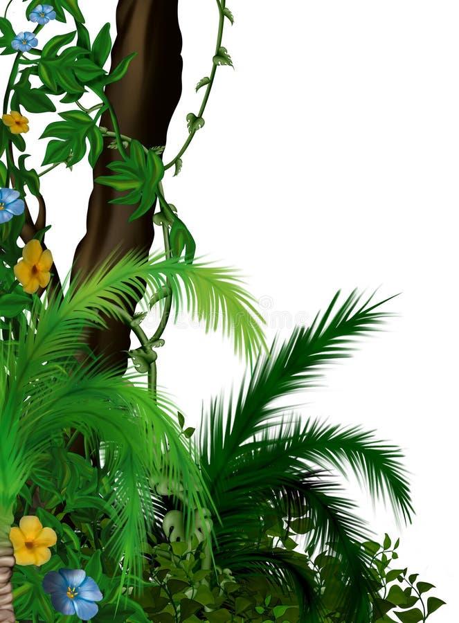 Vegetación de selva stock de ilustración