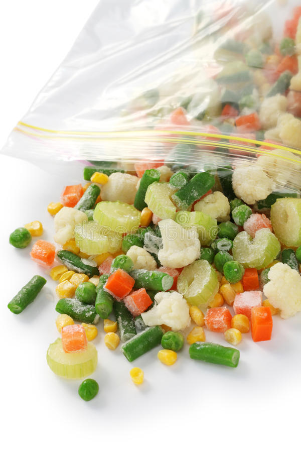 Vegetais congelados caseiros fotografia de stock