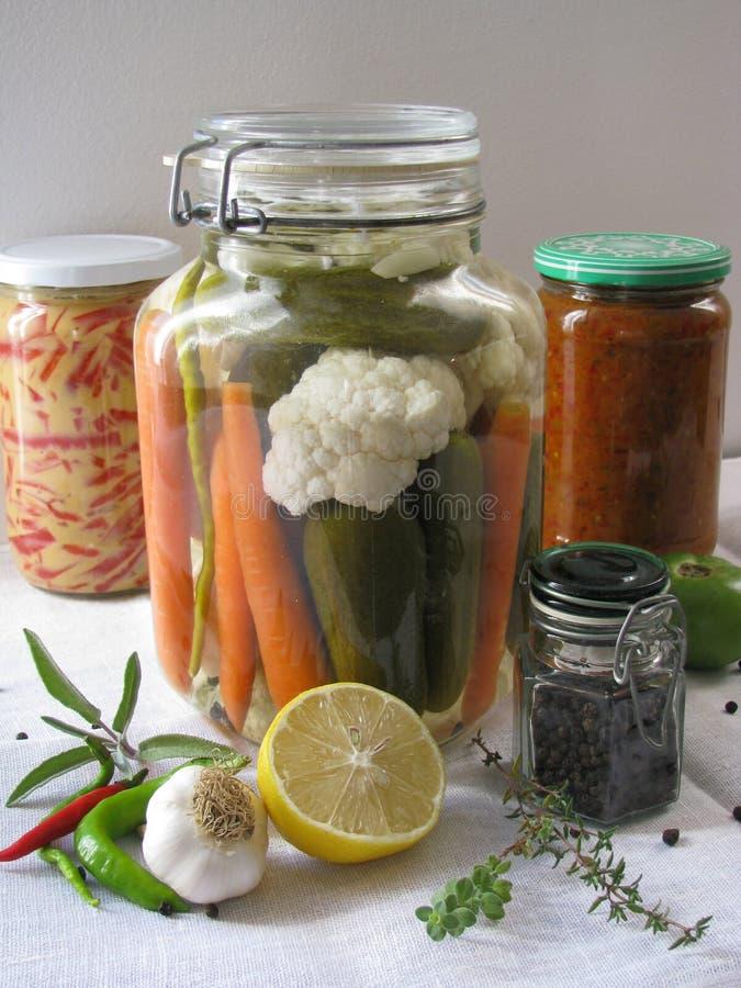 Vegetais conservados imagem de stock