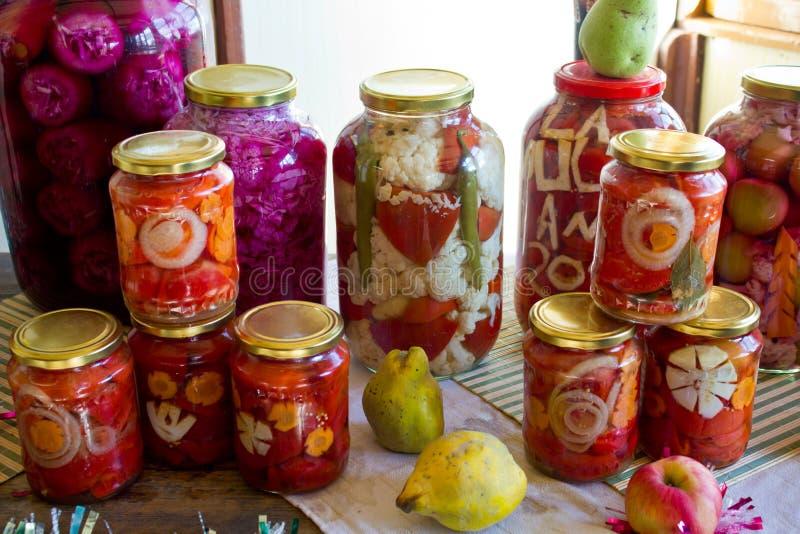 Vegetais conservados mim foto de stock