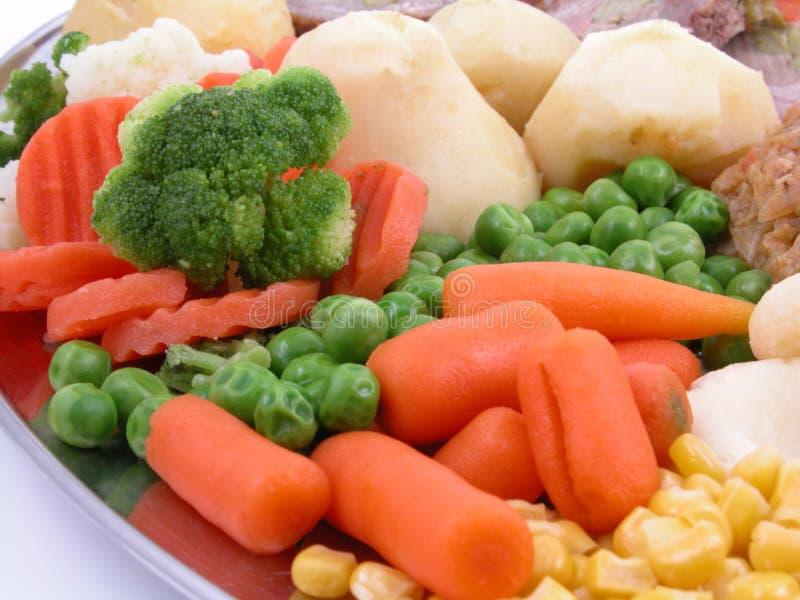 Vegetais cozinhados foto de stock