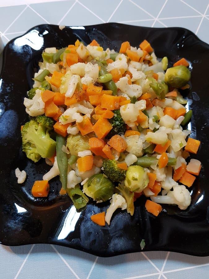 Vegetais cozinhados imagens de stock