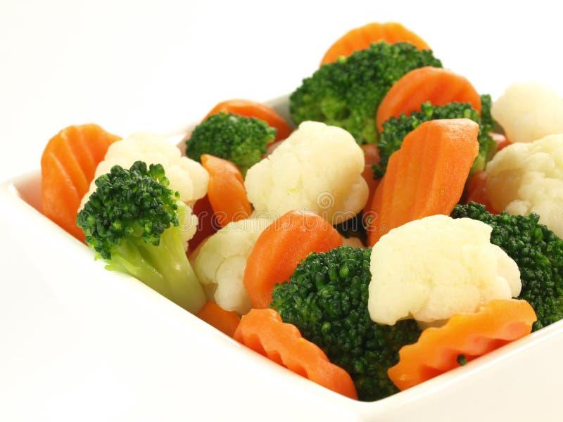 Vegetais cozinhados, ascendente isolado, próximo foto de stock royalty free