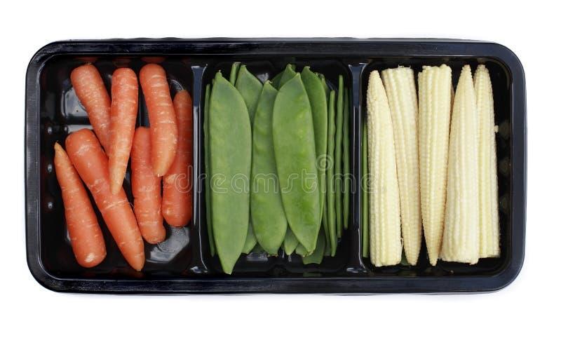 Vegetais da fritada do Stir mini fotos de stock royalty free