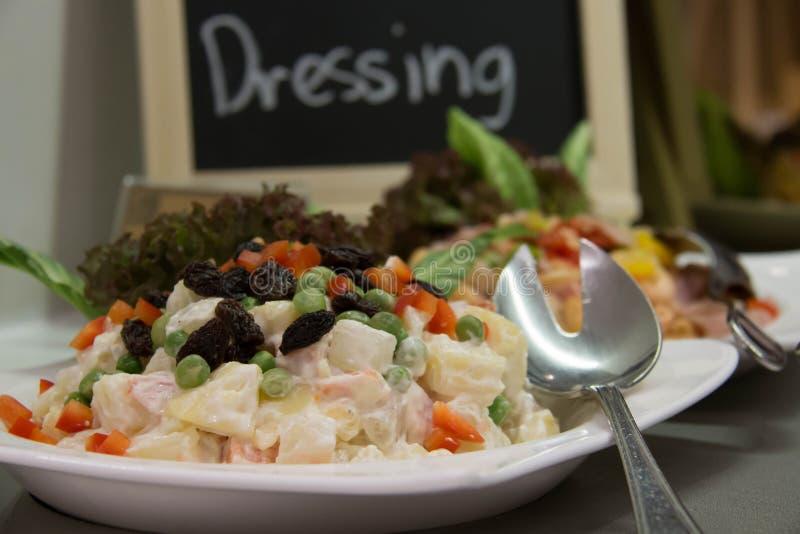 Vegetais de salada e verdes misturados imagem de stock royalty free