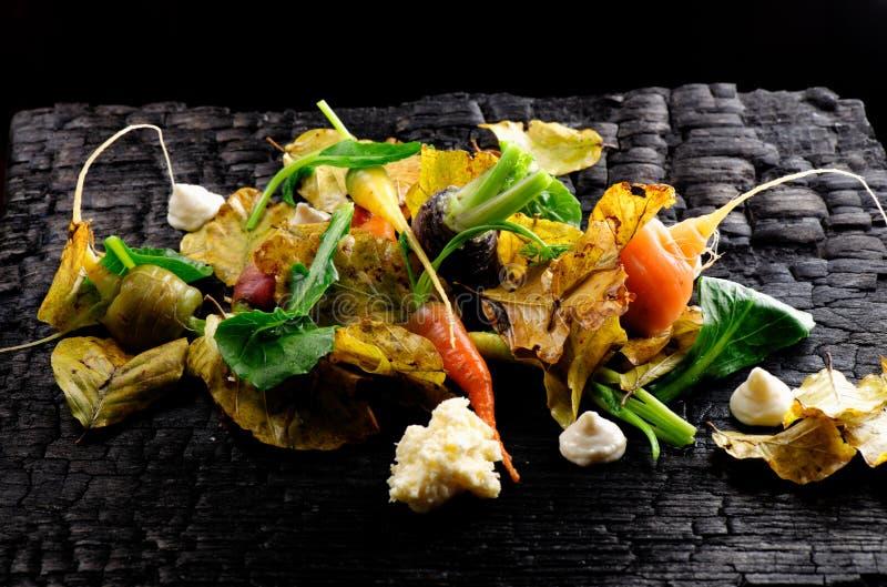 Vegetais do outono/jantar fino fotografia de stock