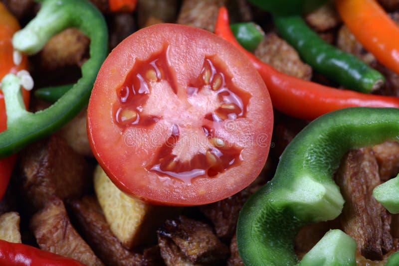 Vegetais do tomate fotografia de stock royalty free