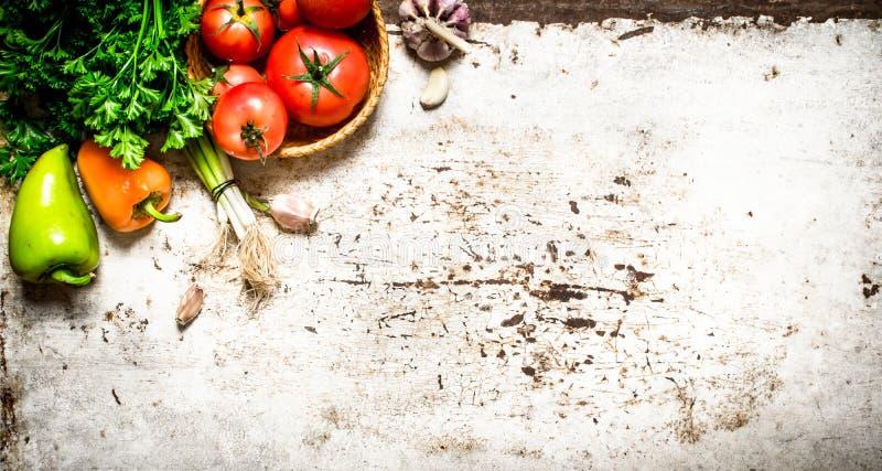 Vegetais e ervas naturais foto de stock