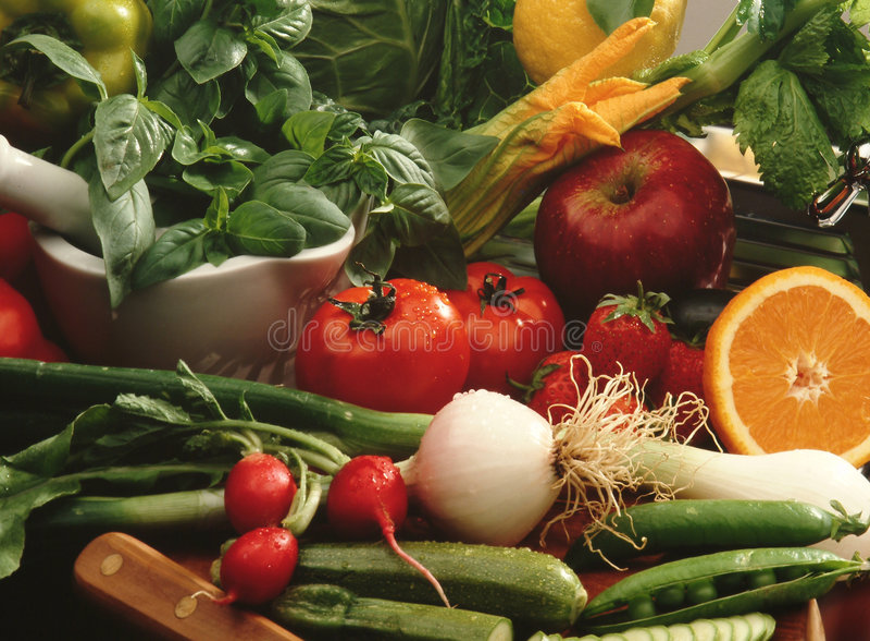 Vegetais e fruta fotos de stock royalty free