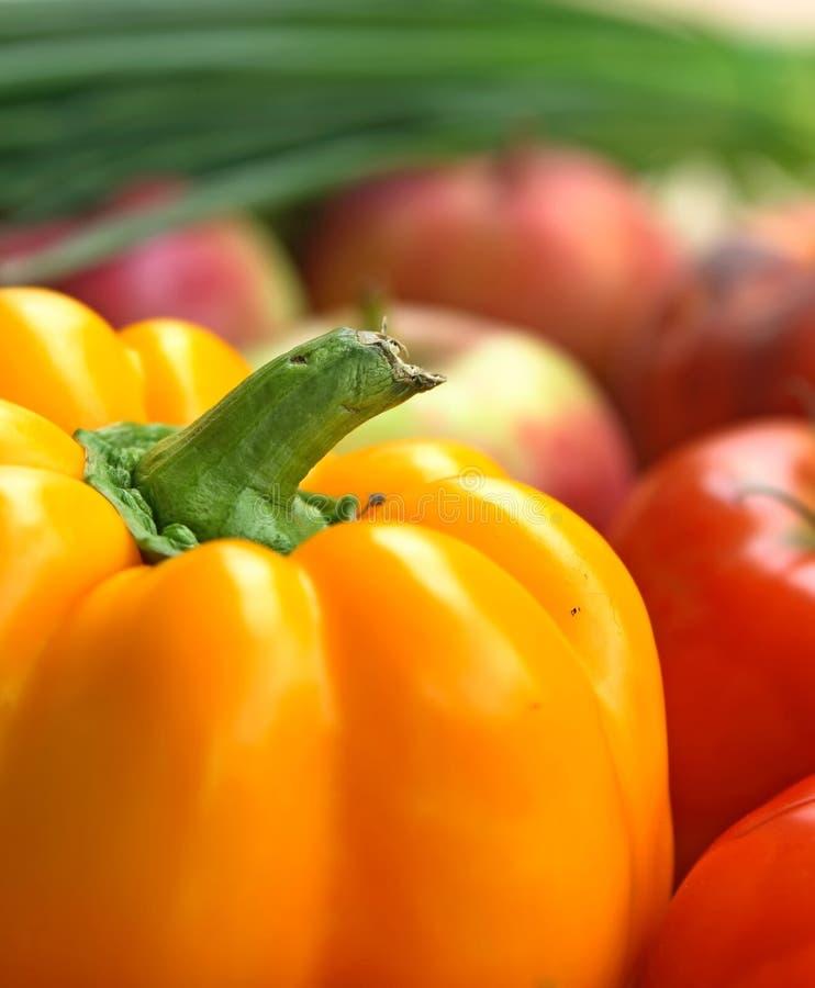 Vegetais e fruta coloridos imagem de stock