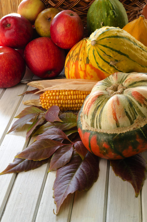 Vegetais e frutas do outono fotografia de stock