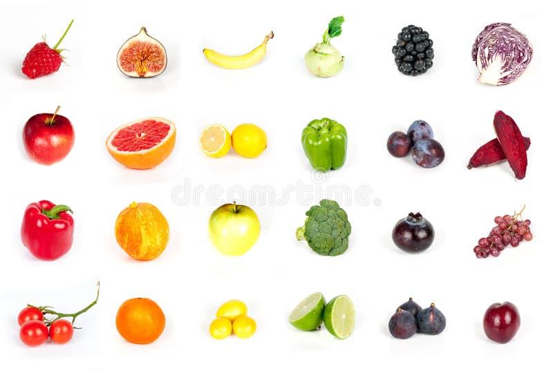 Vegetais e frutos fotografia de stock royalty free