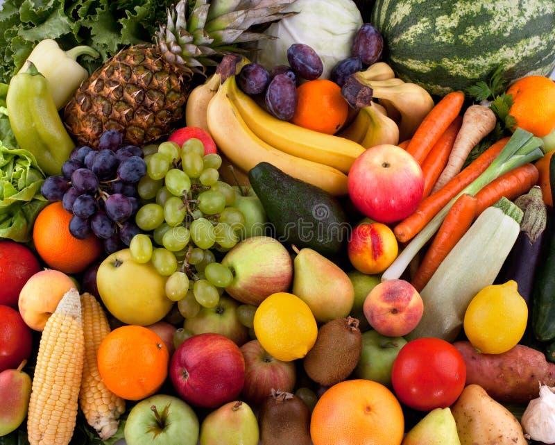 Vegetais e frutos imagem de stock