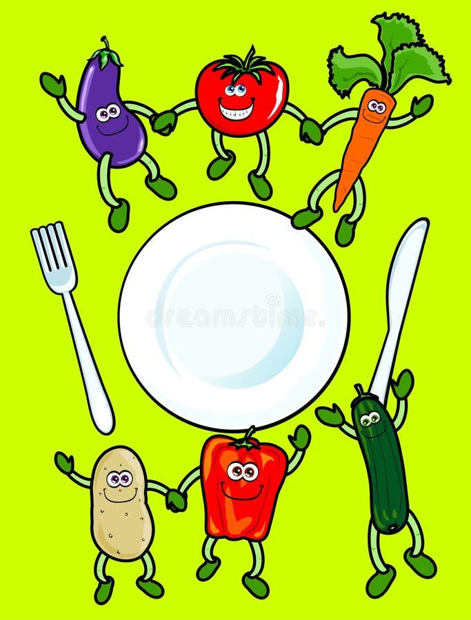 Vegetais felizes ilustração royalty free