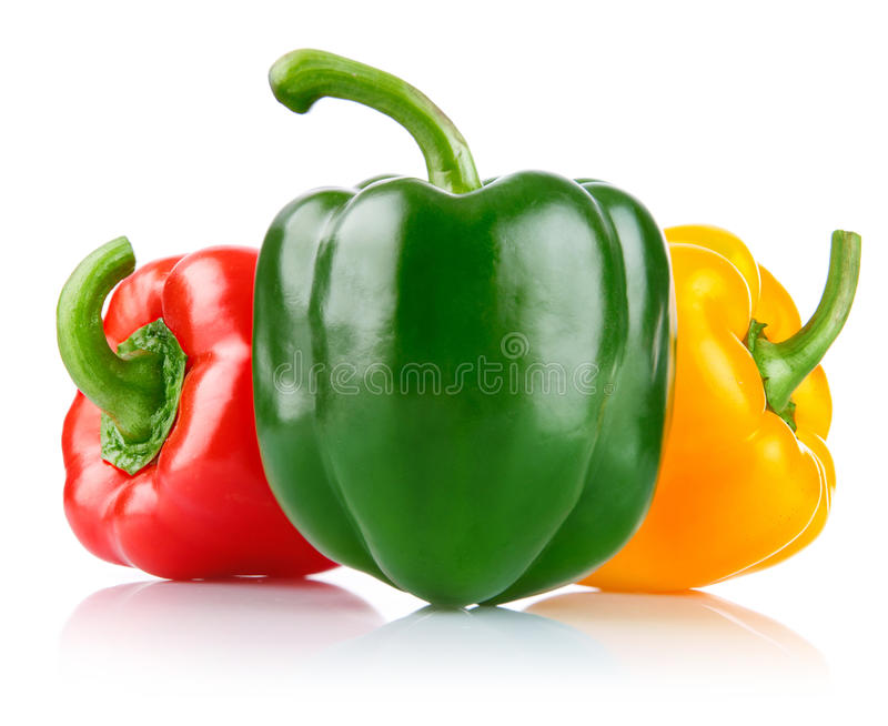 Vegetais frescos da pimenta fotografia de stock