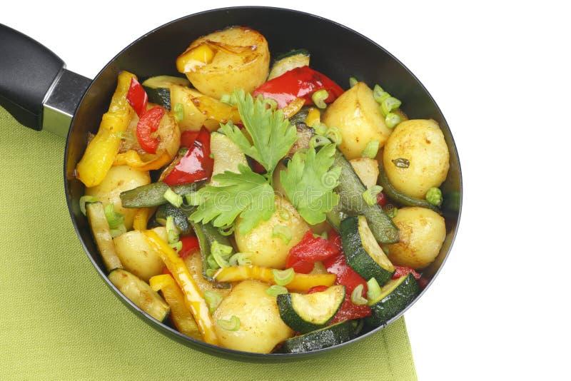 Vegetais fritados fotos de stock