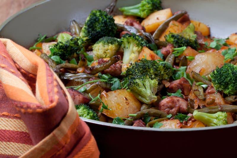 Vegetais fritados imagem de stock royalty free