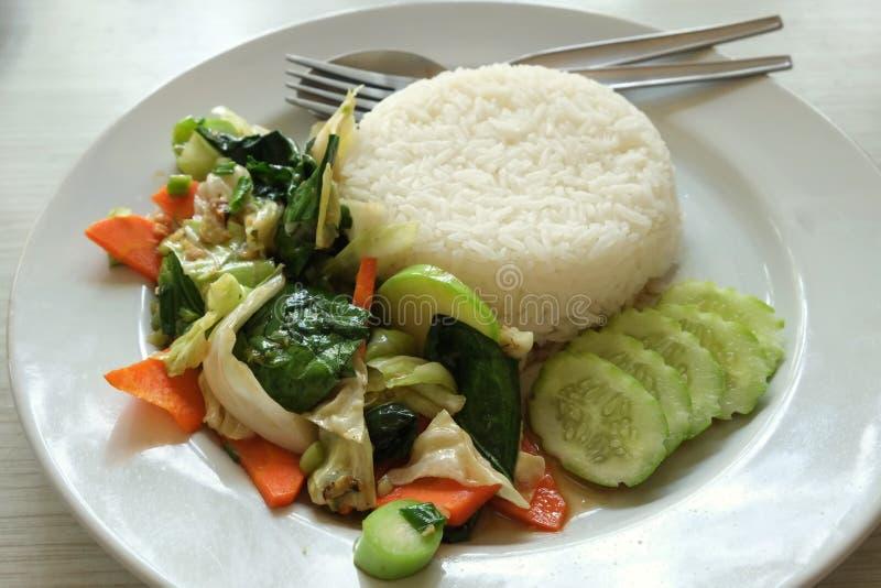 Vegetais fritados fotos de stock royalty free