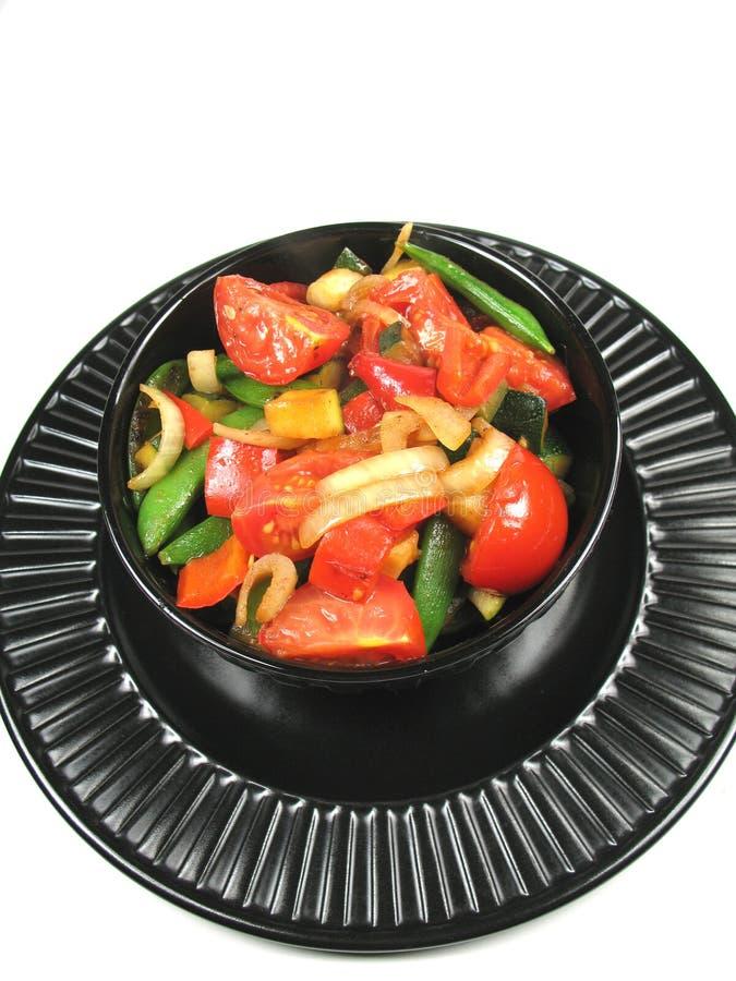Vegetais fritados Stir imagem de stock royalty free