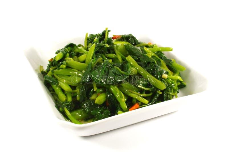 Vegetais fritados Stir fotos de stock
