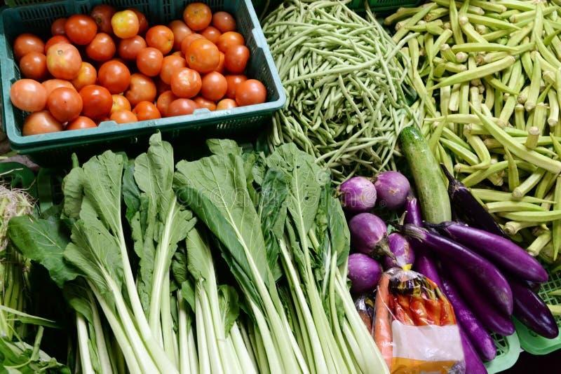 Vegetais/fundo saudáveis frescos orgânicos do alimento fotografia de stock royalty free