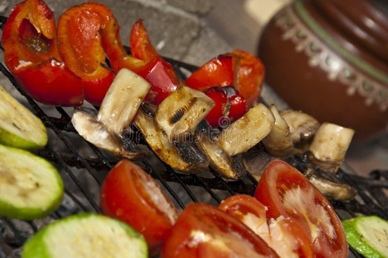 Vegetais grelhados foto de stock royalty free