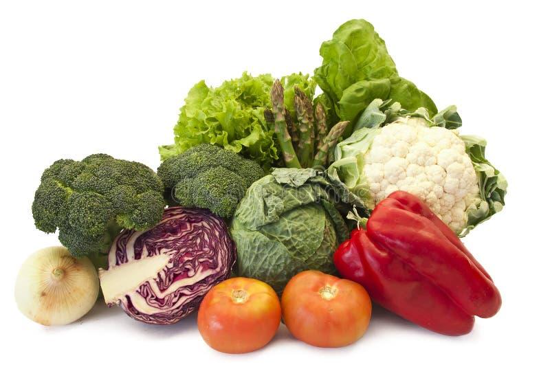 Vegetais isolados foto de stock