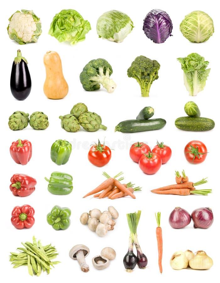Vegetais isolados imagens de stock