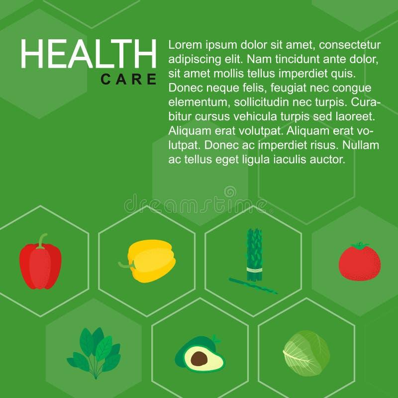 Vegetais isolados saudáveis do ícone do alimento ilustração do vetor
