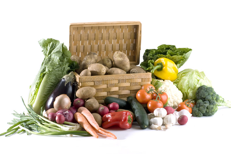 Vegetais no branco imagem de stock
