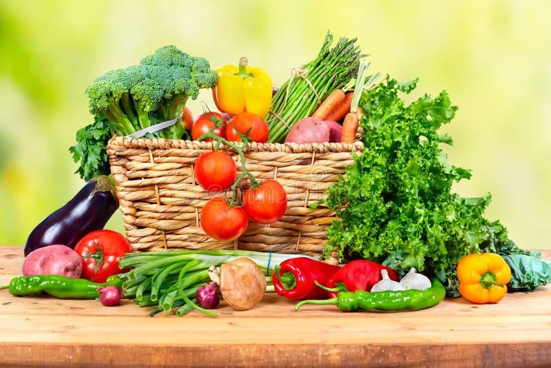 Vegetais orgânicos fotos de stock royalty free