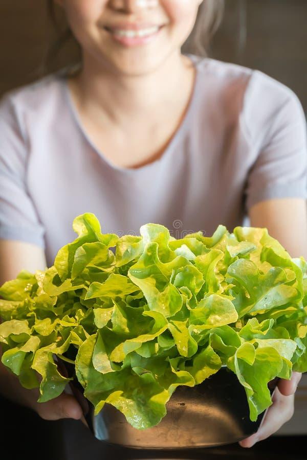 Vegetais orgânicos no cálice imagens de stock royalty free